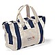 Striped Cotton Canvas Tote